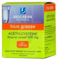 Acetylcysteine Biogaran Conseil 200 Mg Pdr Sol Buv En Sachet B/20 à Tours
