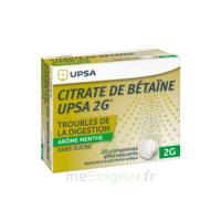 Citrate De Bétaïne Upsa 2 G Comprimés Effervescents Sans Sucre Menthe édulcoré à La Saccharine Sodique T/20 à Tours