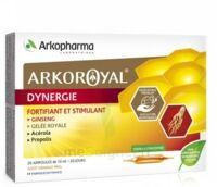 Arkoroyal Dynergie Ginseng Gelée Royale Propolis Solution Buvable 20 Ampoules/10ml à Tours