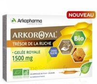 Arkoroyal Gelée Royale Bio Sans Sucre 1500mg Solution Buvable 20 Ampoules/10ml à Tours