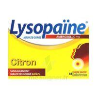 LysopaÏne Ambroxol 20 Mg Pastilles Maux De Gorge Sans Sucre Citron Plq/18 à Tours
