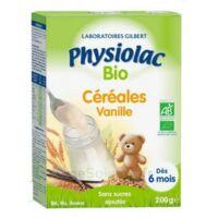 Physiolac Céréales Vanille Bio B/200g à Tours