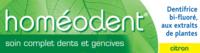 Boiron Homéodent Soin Complet Dents Et Gencives Pâte Dentifrice Citron T/75ml à Tours